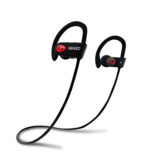 SENSO Bluetooth Headphones, Best Wireless Sports Earphones w/Mic IPX7 Waterproof...