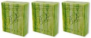Bela Bath & Beauty, Shea Butter and Organic Coconut Oil, Triple French Milled Moisturizing Soap Bars, No Harsh Ingredients, 3.5 oz each - 3 Pack