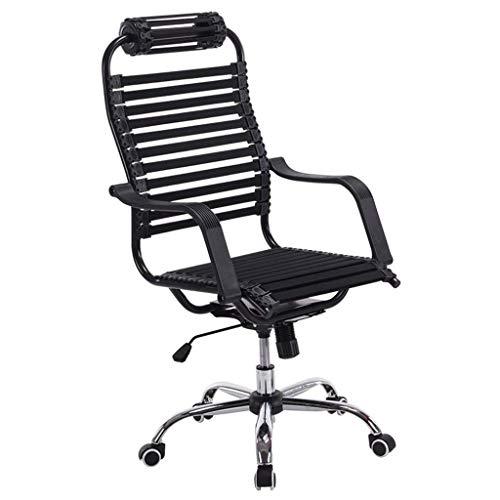 N/Z Équipement Quotidien Chaise de Salon/Chaise de Salle d'étude/Chaise de Bureau rotatoire d'ascenseur de Salle d'étude/Chaise d'ordinateur/Chaise de santé d'étudiant Noir 62cm * 62cm * 112cm