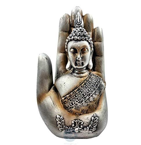 Mindful Gautama Buddha in The Palm 7' Statue