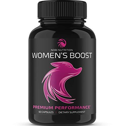 Nobi Nutrition Premium Women's Boost - Women Health Female Enhancement Pills - Hormone Balance Complex for Women - Support Increased Desire, Passion, Endurance, Energy & Mood (60 Capsules)