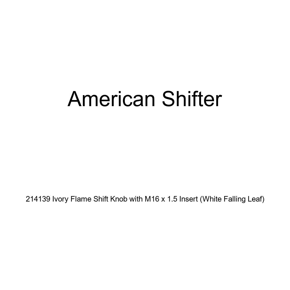 American Shifter 31104 Ivory Shift Knob with 16mm x 1.5 Insert White Flying Encased Heart