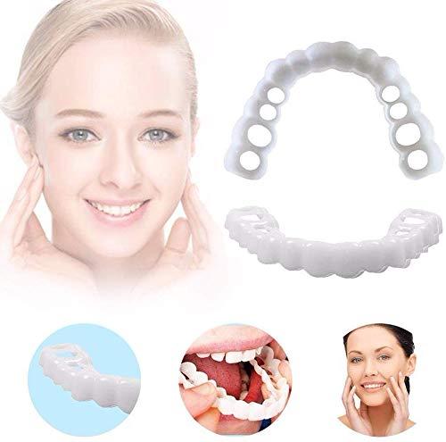 Single Board Zähne komfortable Zahnersatz Momente perfektes Lächeln komfortable Passform Gebogene Zähne Furnier Zahnkosmetik Aufkleber