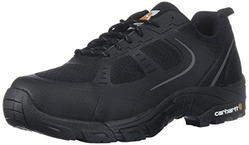 Carhartt mens Cmo3251 Men's Lightweight Steel Toe Low Black Work Hiker Industrial Boot, Black Leather/Black Synthetic, 8.5 US