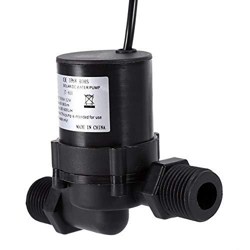 Rockyin Zirkulationspumpe 12v, DC 12V Solarwasser-Zirkulationspumpe Brushless Motor Wasserpumpe 600L / H IP68 wasserdichter Stecker