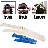 Lomire Barrette magique pour couper cheveux, série d'outil d'aide couper franges bricolage de coiffure facile, Haircutting DIY Simple - accessoire professionnelle du coupe cheveux, Bleu