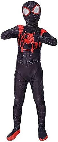 TOYSGAMES noir Spider-Man Cosplay Costume élastique Siamois All-in-Body Bodysuit Film Props Jeu Perforhommece Costume ( Couleur   Noir , Taille   XS )
