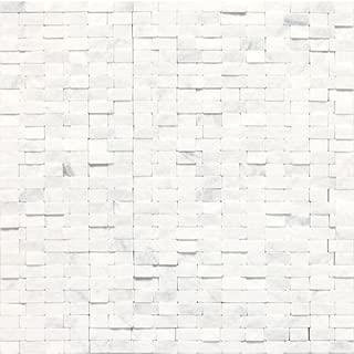 Dal-Tile M313SFRANDMS1S ++ Stone A' LA MOD Tile Contempo White Split FACE Random Brick Joint 42433 x 8