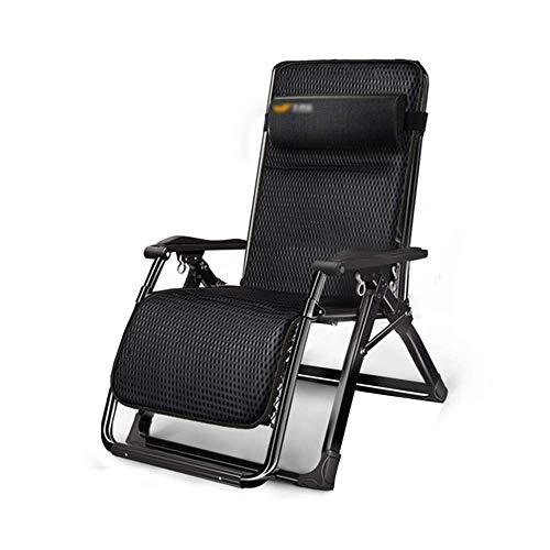 Folding Reclining Chair Zero Gravity Chair Garden Outdoor Terrace Sun Lounger Deck Chair Deck Chair Leisure Nap Single Back Lazy Home Recliner 90°