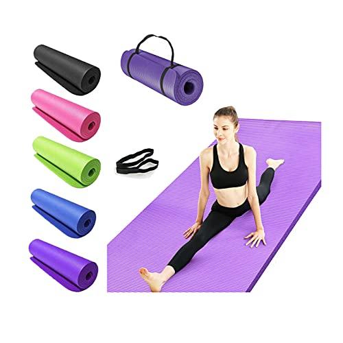 Yogamatte rutschfest, Gymnastikmatte extradick (180cm x 61cm x 15mm), NBR Jogamatte Fitnessmatte Sportmatte Workout-Matte für Gym, Yoga, Pilates, Zuhause - Yoga mat, Rosa