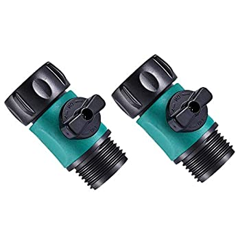Sanpaint 2 Pack 3/4  Garden Hose Shut Off Valve,1-Way Restricted-Flow Water Shut-Off Fits 3/4 Inch Hose Connector