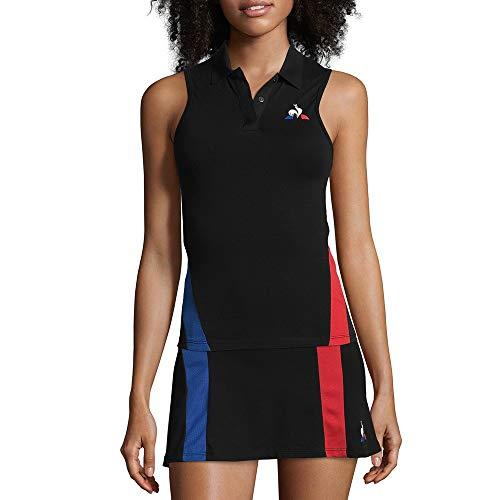 Le Coq Sportif Débardeur Noir Femme Tennis