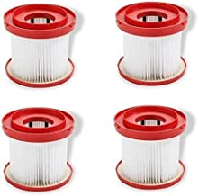 Vacuum Cleaner 4 Pcs Wet Dry Vacuum Filter Compatible with Milwaukee 49-90-1900. Designed for M18 2 Gallon Wet/Dry Vacuum ...