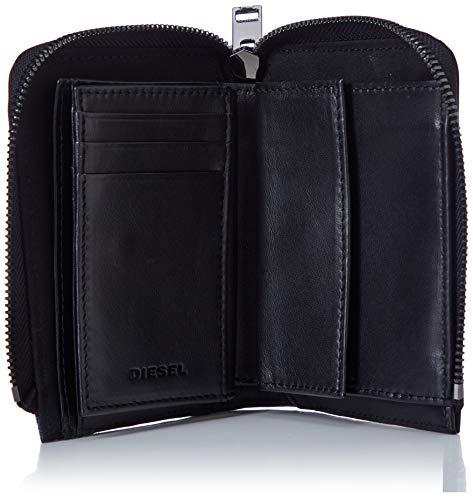 (ディーゼル)DIESELメンズ異素材ミックス二つ折りミニ財布X06748P3178UNIブラックH1146