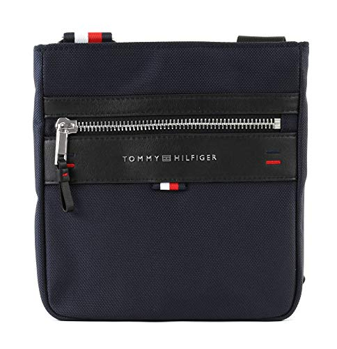 Tommy Hilfiger Herren Elevated Mini Crossover Schultertasche, Blau (Tommy Navy), 2.5x22x21 cm