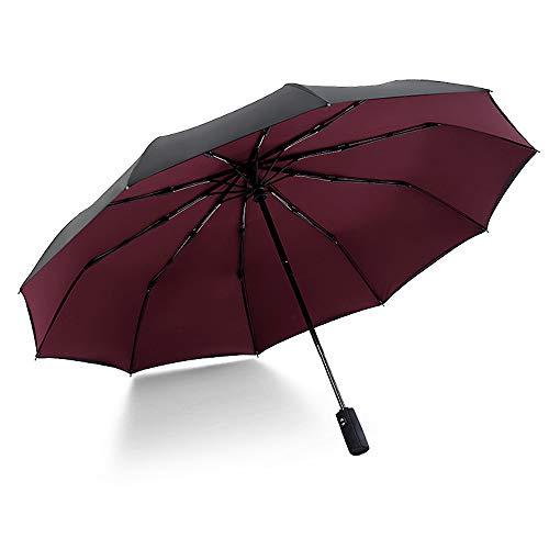 xinrongqu Übergroßer 10-Knochen-Doppelaußenschirm Für Sonnenschirme Automatischer Öffnungswindschutzschirm Rotwein 23