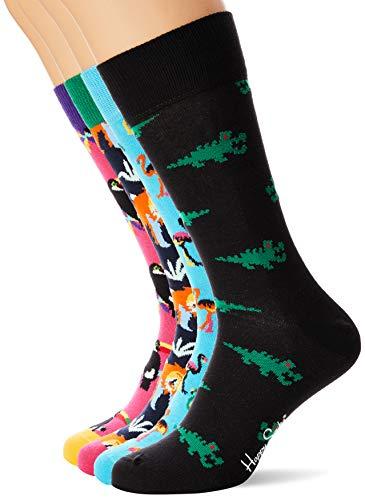Happy Socks Men's Animal Gift Box Socks, Multicolour 350), 7-10...