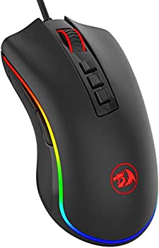 Redragon M711 Cobra Gaming Mouse with 16.8 Million RGB Color Backlit 10,000 DPI Adjustable Comfortable Grip 7 Programmable Buttons