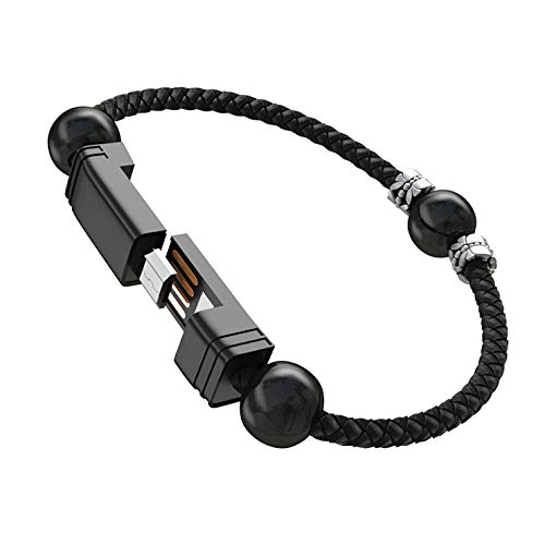 USB Charging Cable Bracelet Portable Charger Cord for iPhone iPad, iPod, Air Pods (Large)