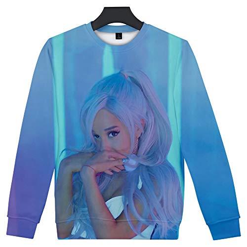 W&TT Unisex Sweatshirt 3D HD Print Ariana_Grande Sänger Pullover Langarm Rundhalsausschnitt Freizeit Jumper für Herren und Damen (XXS-XXXXL),B,S