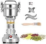 Kacsoo Mulino Elettrico per Cereali, 500G Macina Cereali Portatile, 3 Lame Timing Rettificatrice Pulverizer Machine Robot da Cucina per il caffè dell'erba della spezia