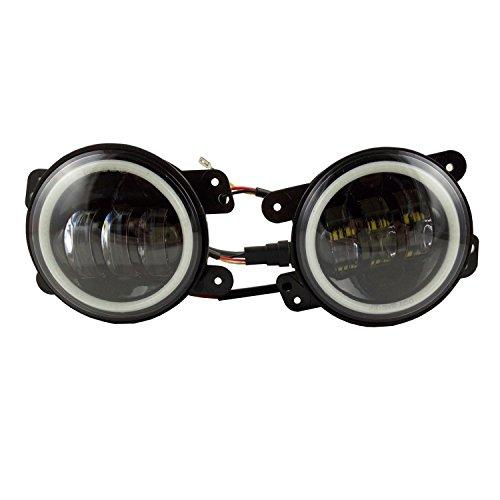 Anzene 10,2 cm 60 W CREE LED Nebel Lichter Halo Ring Angel Eyes für SUV 97–16 JK TJ LJ ATV 1 Paar …