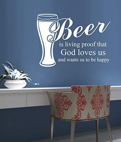 Dalxsh donker bier is mooi Tin Logo Tinplate Whiskey Retro Schilderen Decoratieve muur Home Bar Cafe Muursticker Quote 60X42Cm