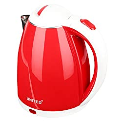 United Electric Kettle 1.5 Liter Red (Inside Steel Body &Wire Length 69 cm)
