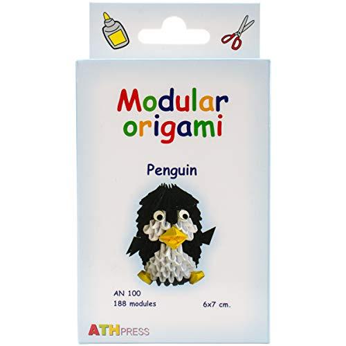 Origami Modular, Juego de 188 Piezas de Papel, pingüino pequeño, Multicolor