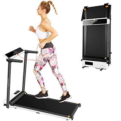 CAROMA Portable Treadmills for Home, 2.5HP Electric Foldable Treadmill Best Cardio Training Walking Jogging Running Machine with LED Display and 12 Preset Programs (Black)