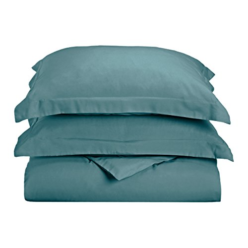 Blue Nile Mills Solid Duvet Cover Set, Soft Wrinkle Free Microfiber, Twin/Twin XL, Teal
