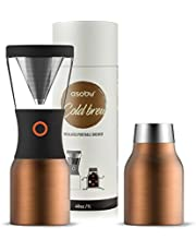 Asobu kb900 przenośny zaparzacz do kawy na zimno, stal nierdzewna, 1 litr, miedź