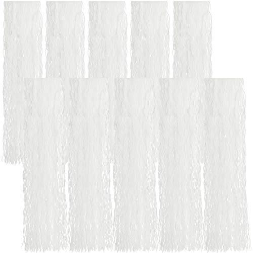 com-four® 10x Lametta gewellt - Lametta Girlande in weiß - Weihnachtsschmuck für den Christbaum - 50 cm (weiß - 10 Stück)