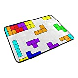 HCmusic Funny Doormat Tetris Door Mat- Welcome Entrance Rug Shoe Scraper for Indoor Outdoor Home, 23.6x15.7 Rubber Back