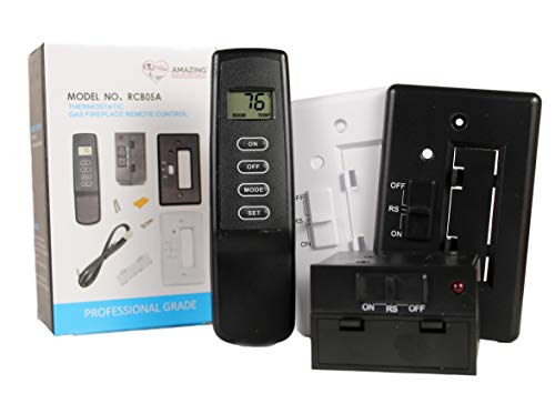 Amazing Deals and Donations Gas Fireplace Remote Control On/Off with Thermostat Remote and Receiver Kit for Millivolt Gas Valves