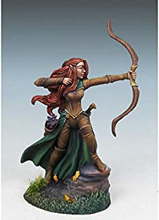 Female Elven Ranger With Bow Miniature Visions In Fantasy Dark Sword Miniatures