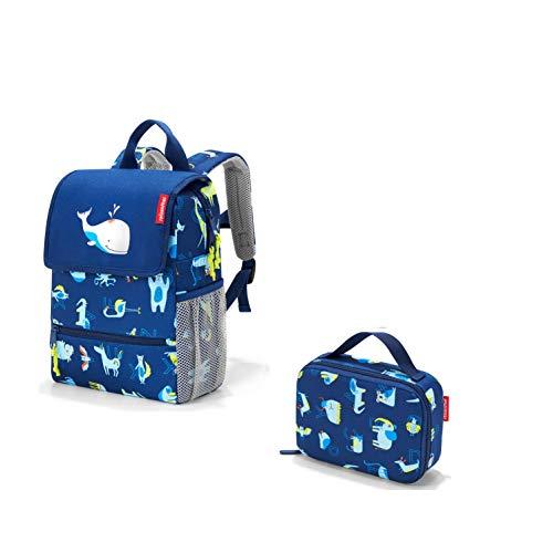 reisenthel Kids Outdoorset für Kinder 2tlg Rucksack/Backpack und Isotasche/thermocase (ABC Friends Blue)