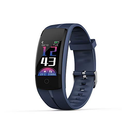 MIJNUX Touch Screen Braccialetto Intelligente, IP67Waterproof Fitness Tracker con cardiofrequenzimetro in remoto Fotografia Meteo Infos spingendo SmartWatch,Blue