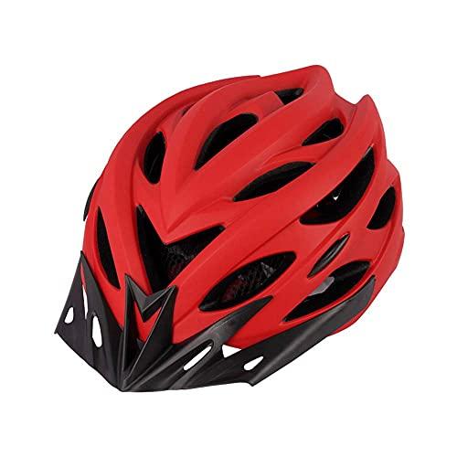 Pkfinrd Casco Ligero, Casco de Ciclo de Bicicleta de Carretera Mujeres para Hombre con luz Trasera Adecuado para la Seguridad en Bicicleta para Adultos (se Ajusta a los tamaños de Cabeza 54-62cm)