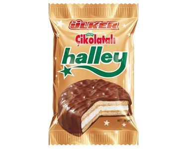 Halley, Kekse umhüllt mit Schokolade mit Marshmallow. 10 Stück a 30g