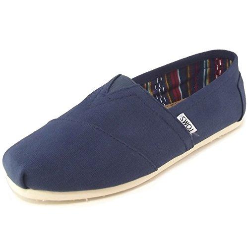 Toms 10000866, Zapatillas de Deporte Unisex niños, Azul (Marino), 40 EU