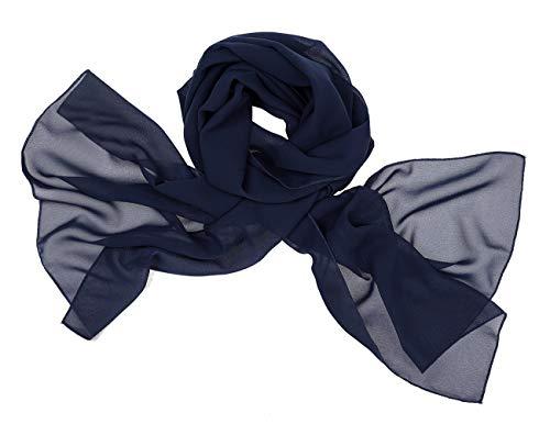 bridesmay Chiffon Stola Schal Scarves für Kleider in Verschiedenen Farben Navy M