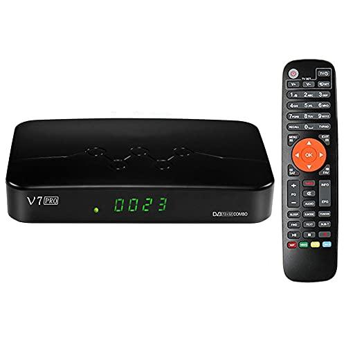 SSRSHDZW TV Caja de TV IPTV Kit Top Box Multimedia Player Internet TV Receptor IP UHD 60FPS WiFi H.265 DVB-S2X T2 Bluetooth Receptor Satélite AVS +