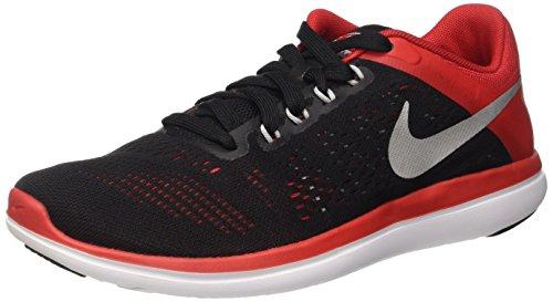 Nike Flex 2016RN, Running Shoes for Men, Black (Black / Metallic Silver-University Network), 5.5 UK