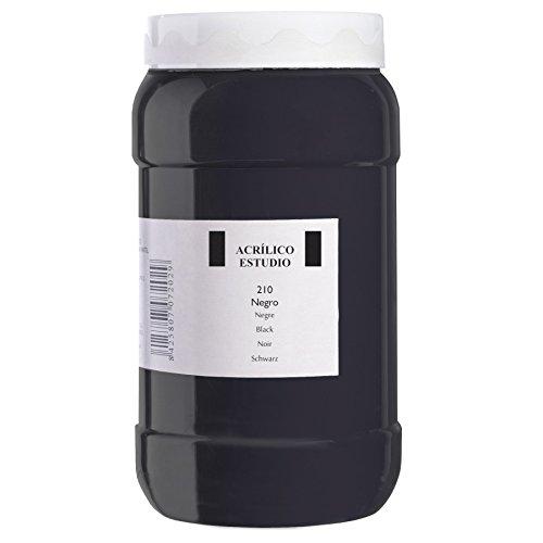 Lienzos Levante Pintura Acrílica Estudio, Bote de 1.000 ml, 210 Negro