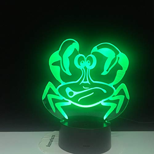 Crab Shape Office 3D LED Night Light Table Lamp Bedside Decoration Kids Gift