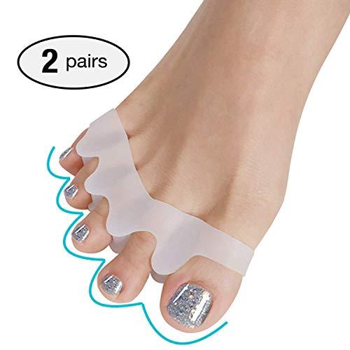 GSN Séparateurs d'orteils – Paire d'écarteurs d'orteils pour soulager les oignons, les orteils qui se chevauchent et soulager la douleur – Gel Confort tout au long de la journée et soutien des oignons