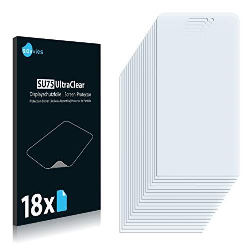 Savvies 18x Schutzfolie kompatibel mit Wiko Wax Bildschirmschutz-Folie Ultra-transparent