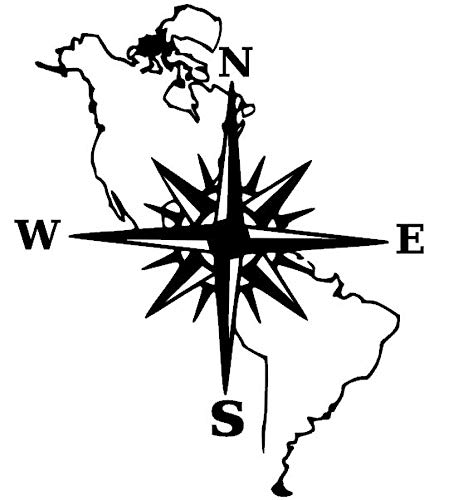 generisch Kompass Aufkleber Polarstern Windrose Aufkleber Verschiedene Größen, Auto Caravan Wohnmobil Wandtattoo, Silhouette Aufkleber (39/2) (dunkelgrau matt, 20x15cm)