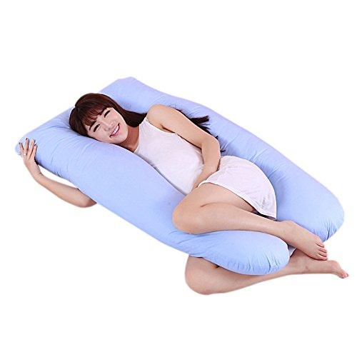 Gelentea Nuevo embarazo maternidad cuerpo almohada novio brazo dormir almohada apoyo funda almohada cubierta de cojín forma de U